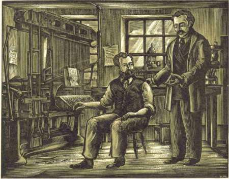 Ottmar Mergenthaler and Whitelaw Reid At the Invention of Linotype