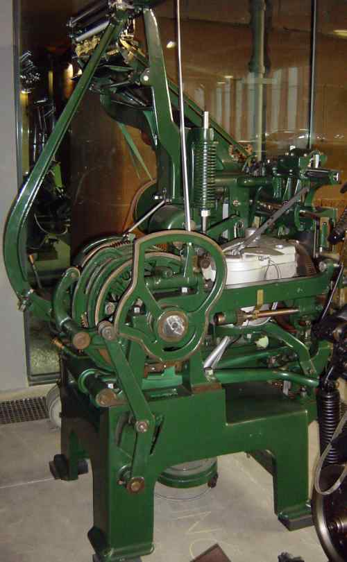 Square-Based Linotype Model 1 - side view