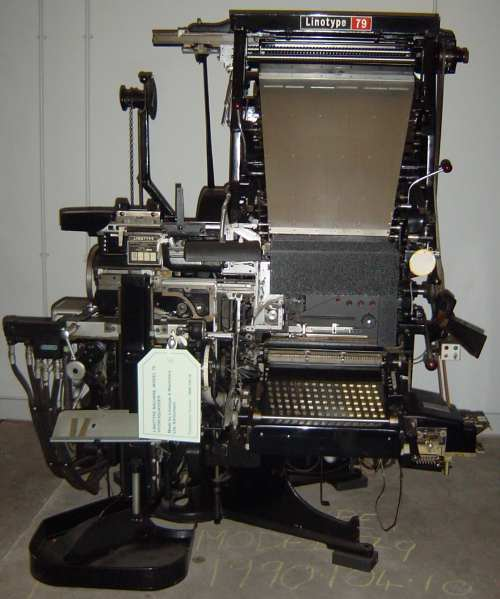 Linotype Model 79 Hydraquadder