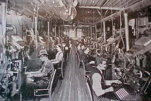 A Mergenthaler Linotype Plant in Operation