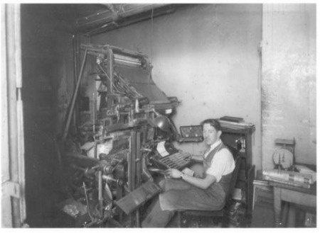 Operating a Linotype
