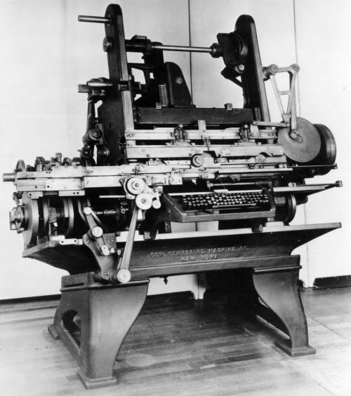 Dow Typesetter 1896