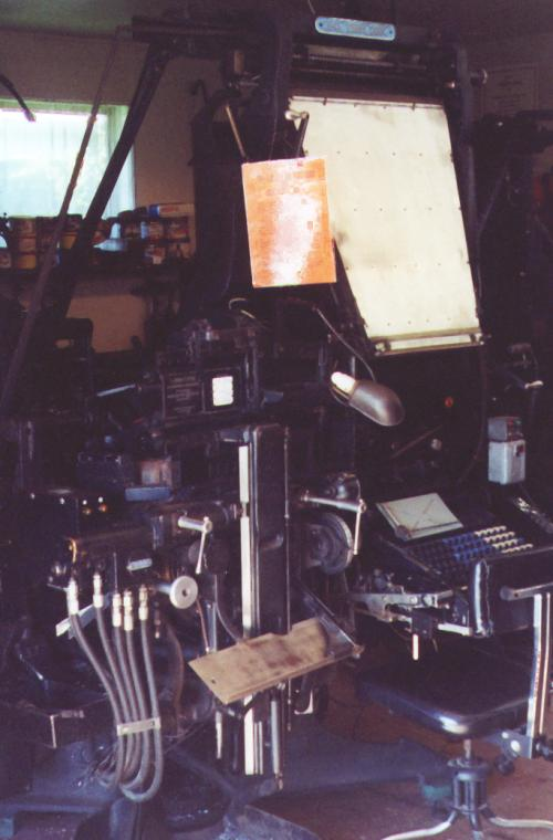 Linotype Comet 300 with Fairchild operating unit