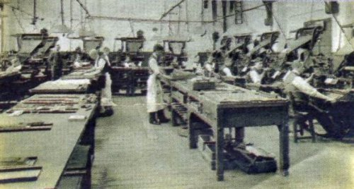 The Linotype Room of the Yorkshire Evening Press 1900-1920
