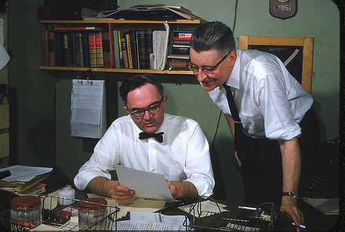 Editor Jim Malone and Reporter Walter Snow