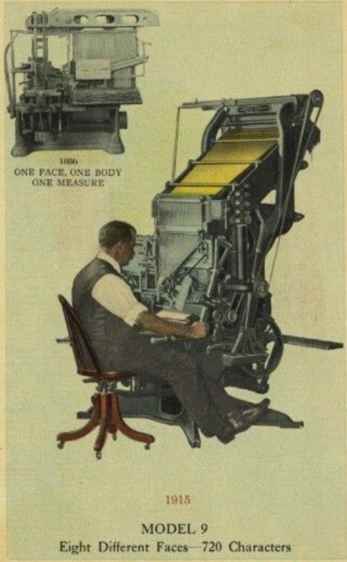 1915 Linotype advertisement