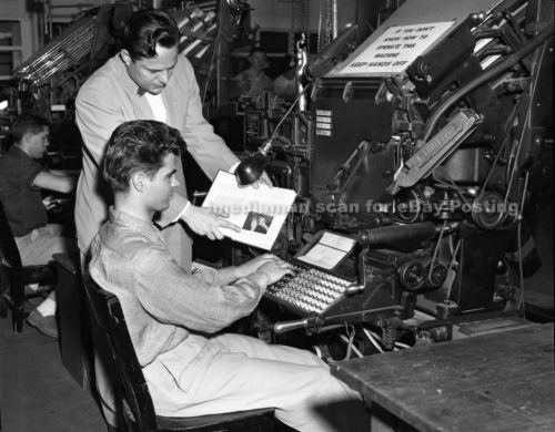 Linotype training school 1950s