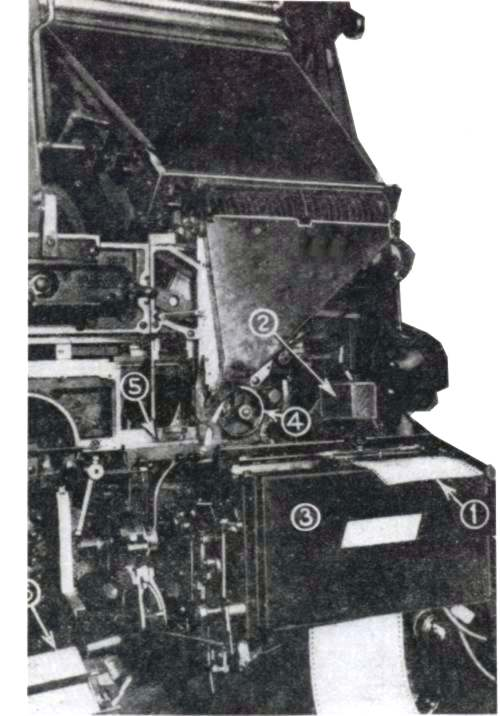 The Semagraph device for automatically operating a Linotype