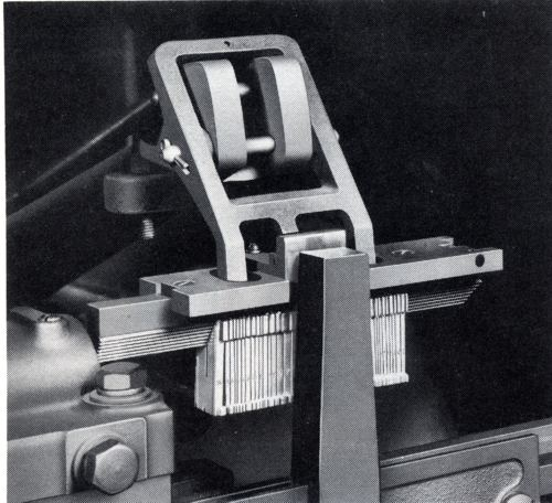 Picture of Blue Streak Model 31 Linotype - second elevator bar guide