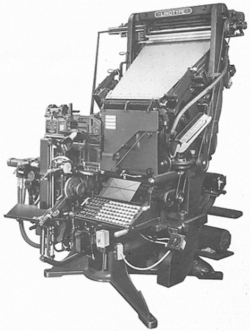 Picture of Blue Streak Model 31 Linotype