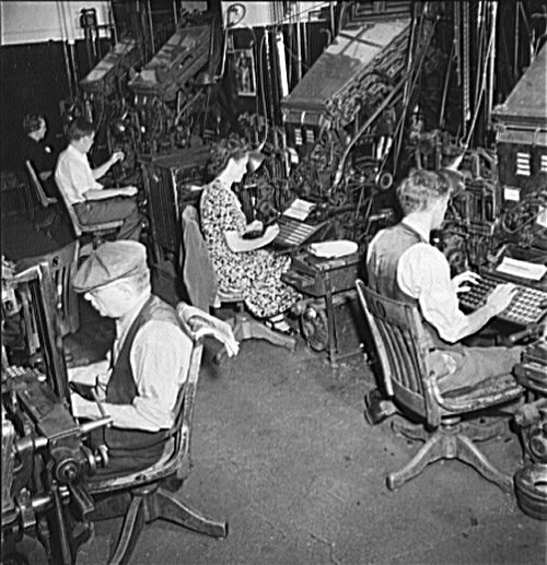Linotype Operators at the New York Times September 1942