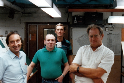 Stan Ballard and colleagues pictured at the Financial Times