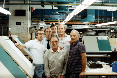 Group of Financial Times compositors