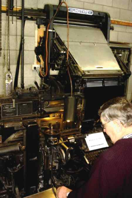 Harry Craig on a Model 31 Linotype