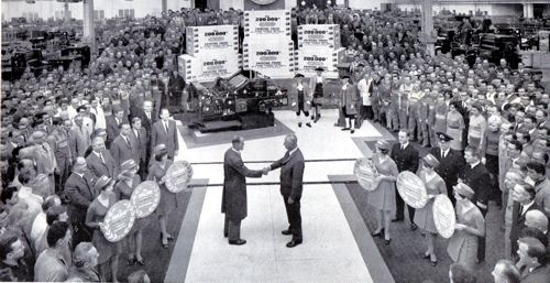 December 1968, the 200,000th Heidelberg press rolls off the production line in Germany