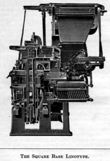 The square base Linotype