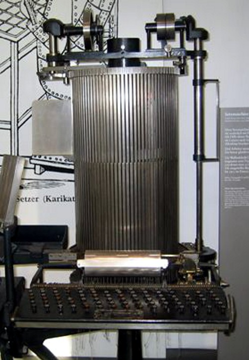 One-man Simplex typesetting machine