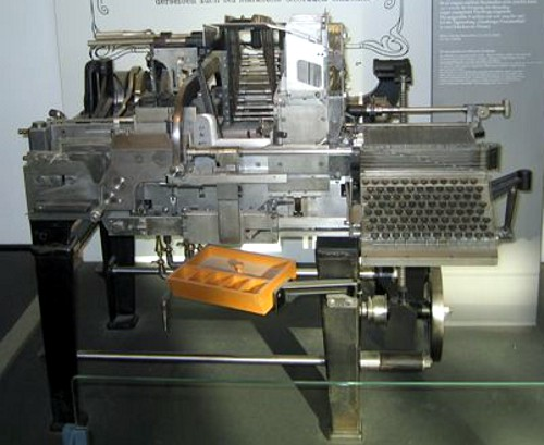 A Monoline typesetting machine