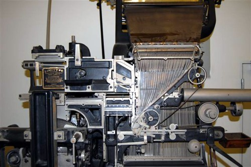 Detail of the Linotype