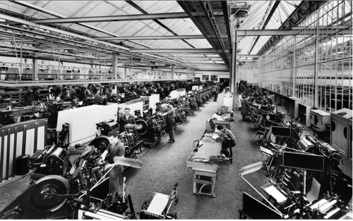 Heidelberg Windmill production line c1957