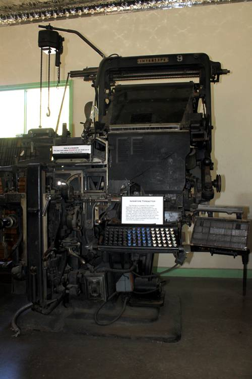 An Intertype at the Clark county Museum
