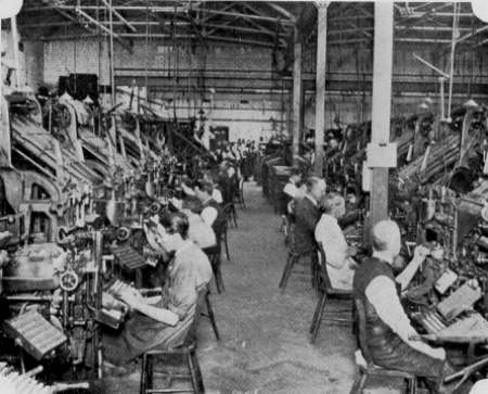 General View, Linotypes, Yorkshire Post