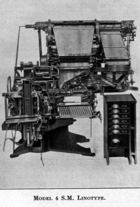 Linotype Model 4 (Second Style) with Side Magazines