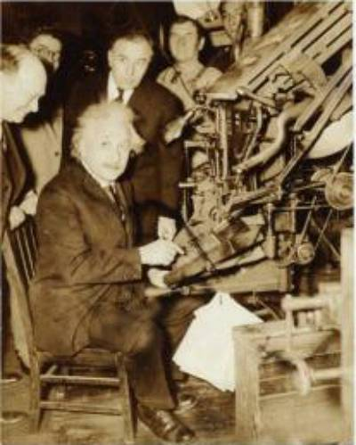 Albert Einstein on the Linotype