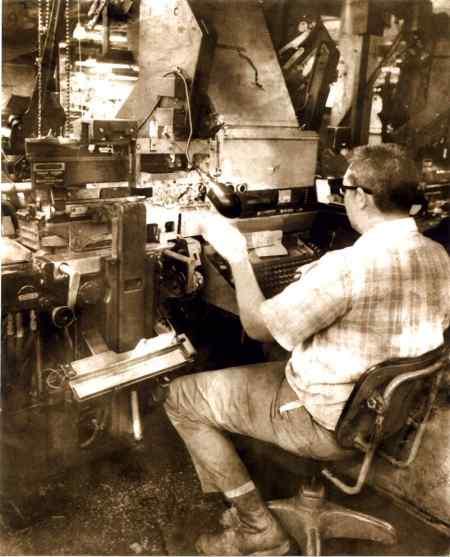 Linotype Elektron at the Albuquerque Journal-Tribune